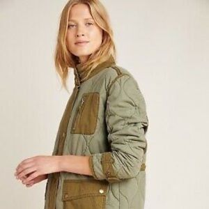 Anthropologie Quilted Liner Jacket XSP NWT